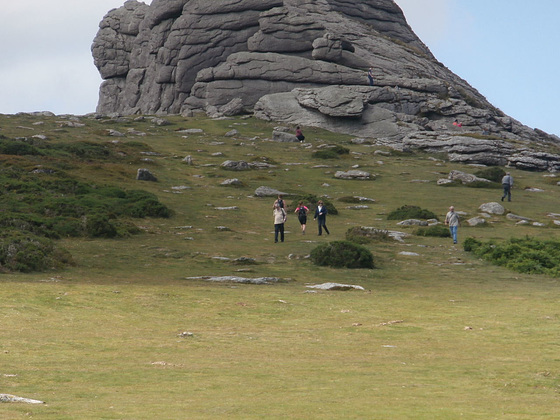 Haytor - you can just see Mickey on the right