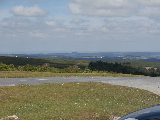 View from Haytor towards the south coast of Devon