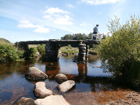 One of the extremely old bridges - made up of slabs of granite.