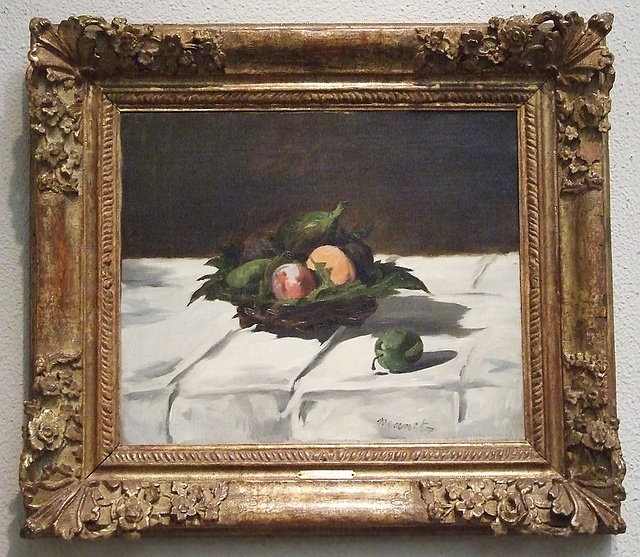 Basket of Fruit by Manet in the Philadelphia Museum of Art, August 2009