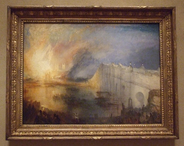 The Burning of the Houses of Parliament by Turner in the Philadelphia Museum of Art, August 2009