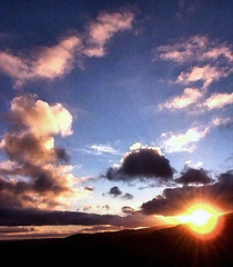 Sunset over Pendle Hill.