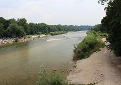 Die Isar in München
