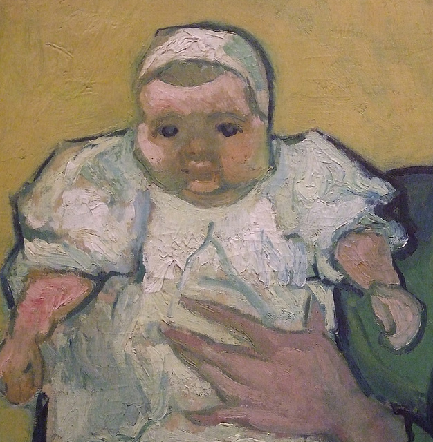 Detail of the Portrait Madame Roulin and Baby by Van Gogh in the Philadelphia Museum of Art, January 2012