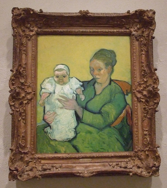 Portrait Madame Roulin and Baby by Van Gogh in the Philadelphia Museum of Art, January 2012
