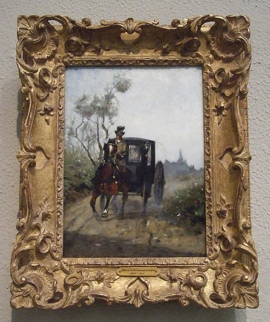 Carriage by Toulouse-Lautrec in the Philadelphia Museum of Art, January 2012