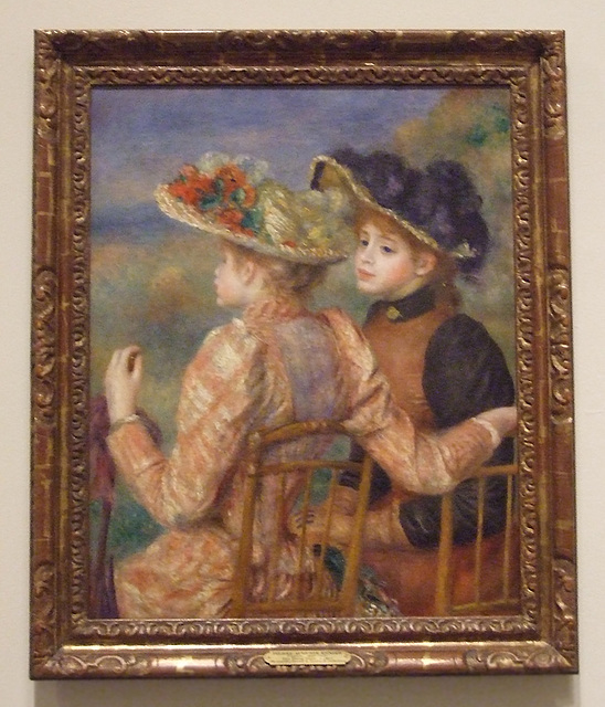 Two Girls by Renoir in the Philadelphia Museum of Art, August 2009