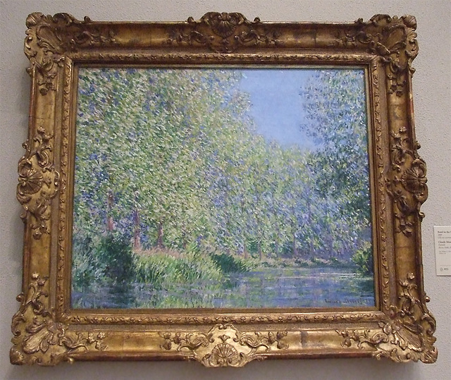 Bend in the Epte River Near Giverny by Monet in the Philadelphia Museum of Art, August 2009