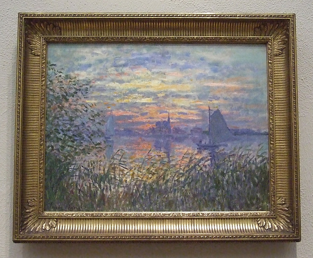 Marine View with a Sunset by Monet in the Philadelphia Museum of Art, January 2012