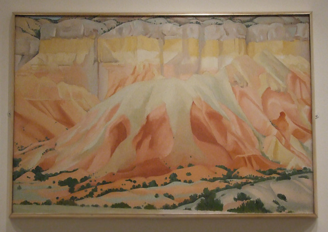 Red and Yellow Cliffs by Georgia O'Keeffe in the Metropolitan Museum of Art, January 2011