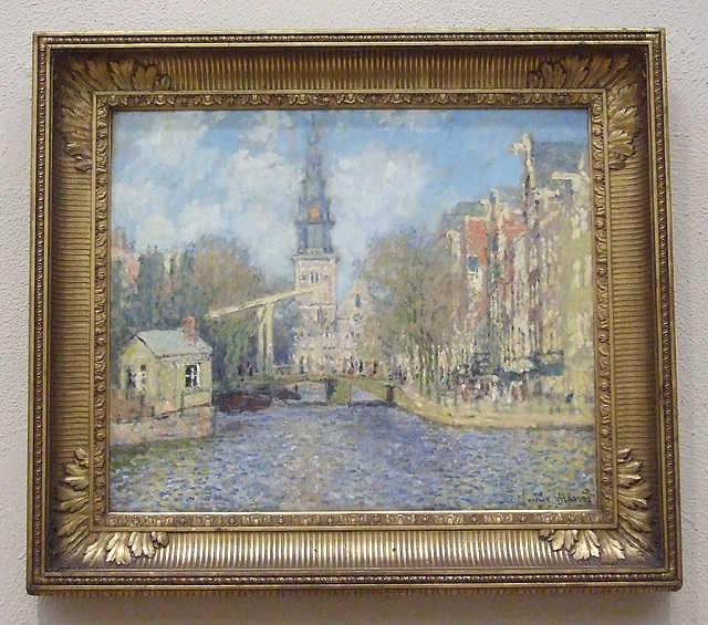 The Zuiderkirk, Amsterdam:  Looking Up by Monet in the Philadelphia Museum of Art, January 2012