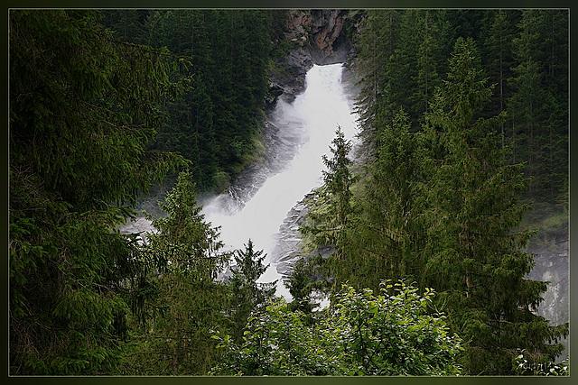 Krimml waterval, onderste gedeelte