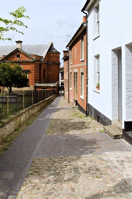 View down Church Path Guildford