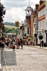 Guildford High Street and The Guildhall