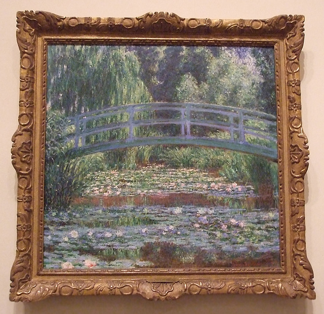 Japanese Footbridge and Water Lily Pool, Giverny by Monet in the Philadelphia Museum of Art, August 2009