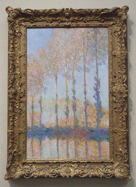 Poplars on the Bank of the Epte River by Monet in the Philadelphia Museum of Art, January 2012