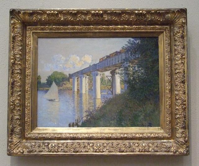 Railroad Bridge, Argenteuil by Monet in the Philadelphia Museum of Art, January 2012