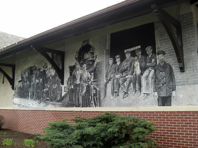 Old Railway Station - Summerside Library Mural