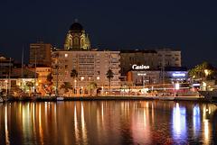 Saint-Raphaël: Le port de nuit.10