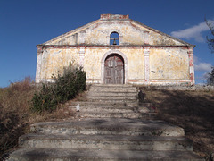 Stairway to a church of yester years.