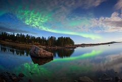 Nuit d'automne en Laponie
