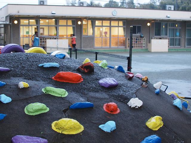 Nursery school at dusk