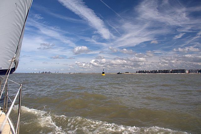 Entre Ostende et Zeebrugge.