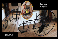 Cast Iron tricycle - Lewes Gallery - Anne of Cleves' House - Lewes - 23.7.2014
