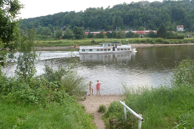 Sommertag an der Elbe