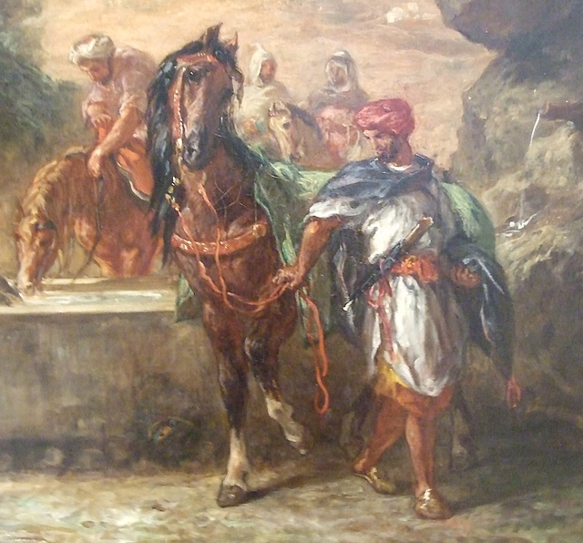 Detail of Horses at a Fountain by Delacroix in the Philadelphia Museum of Art, August 2009