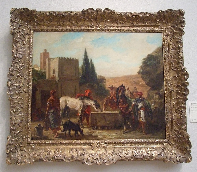 Horses at a Fountain by Delacroix in the Philadelphia Museum of Art, August 2009