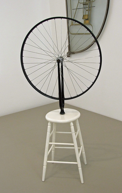 Bicycle Wheel by Duchamp in the Philadelphia Museum of Art, January 2012