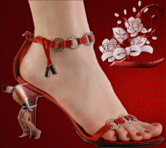 Création Valériane /  Soumission et talons hauts - Submission & high heels.