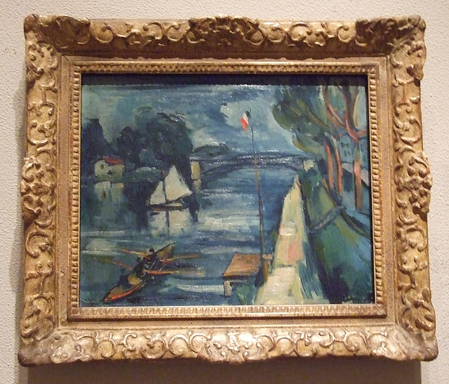 The Seine at Chatou by Vlaminck in the Philadelphia Museum of Art, August 2009