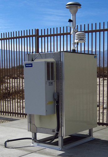 SCAQMD Monitoring Station In Desert Hot Springs (2344)