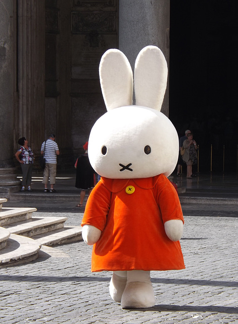 Miffy at the Pantheon, July 2012