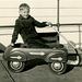 Boy in a Playboy Toy Wagon, 1938
