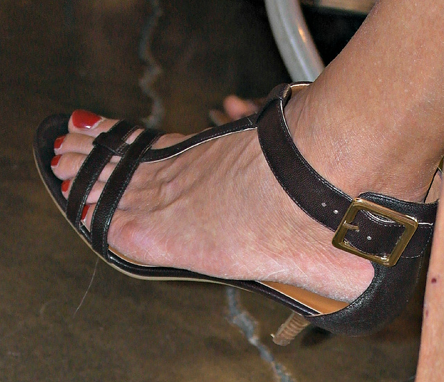 nine west heels close up