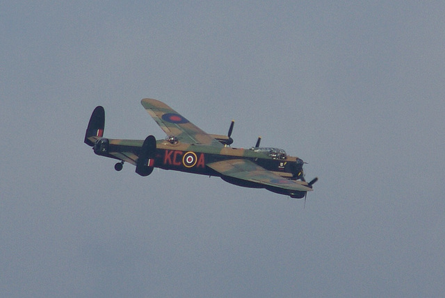 The Two Lancasters - the BBMF plane Thumper