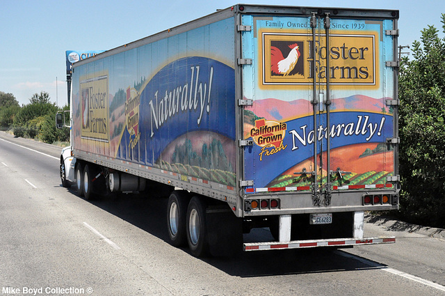 foster farms pb 384 reefer van ca sr99 kingsburg ca 07'14