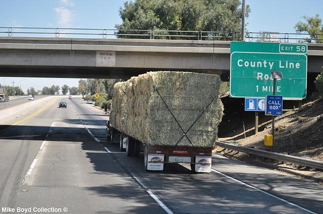 greenfield hay co frtlnr fld hay hauler dbls ca sr99 delano ca 07'14