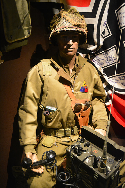 Omaha Beach 2014 – Overlord Museum – American soldier after a phone call