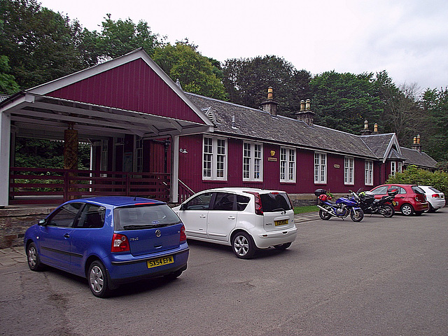 Strathpeffer station from the car-park