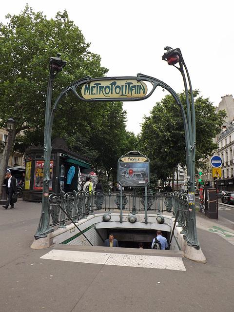 Pigalle Metro Station in Paris, June 2013
