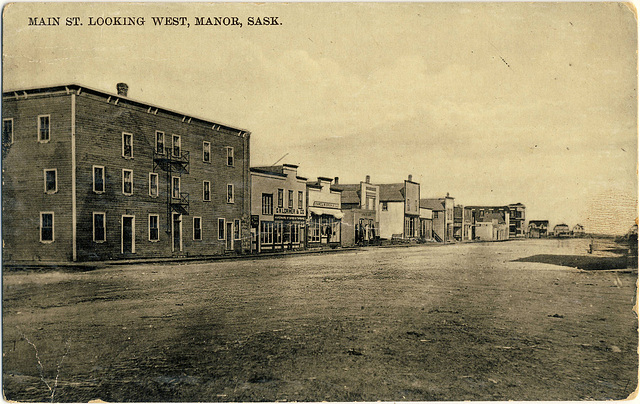 3980. Main St. looking west, Manor, Sask.