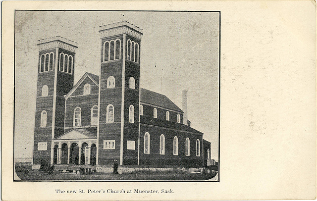 3988. The new St. Peter's Church at Muenster, Sask.