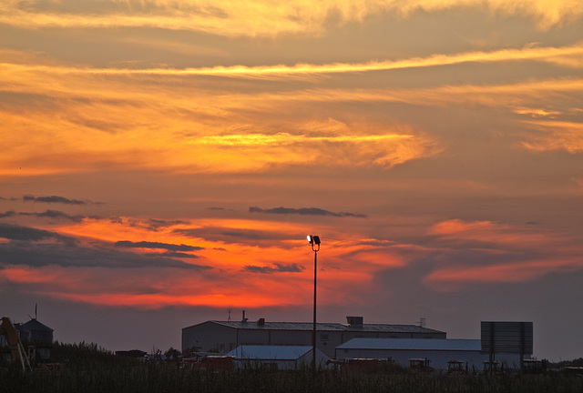 Sundown in Saskatchewan.