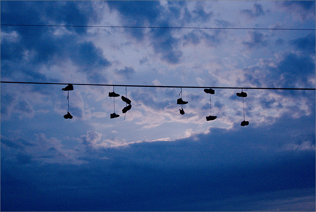 Shoes. In the Sky.