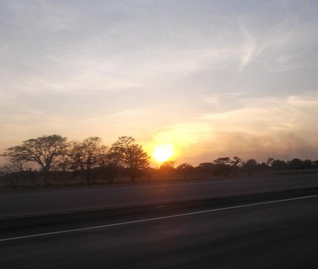 Coucher de soleil panaméen / Panamanian sunset.