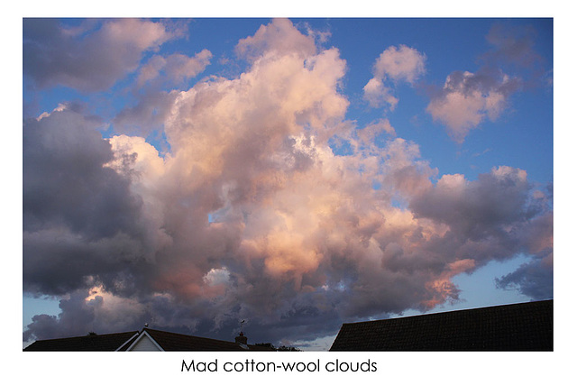 Mad cotton-wool clouds - East Blatchington - 23.8.2014